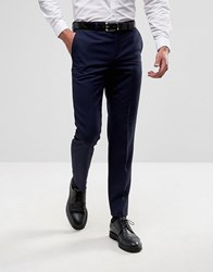 Burton Menswear Slim Suit Trousers Navy