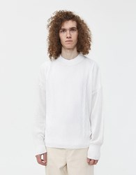 Our Legacy Smooth Cable Roundneck Sweater White
