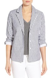 Nydj Women's 'Derby' Stripe Notch Collar Jacket