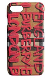 Burberry Rufus Iphone 8 Case Red