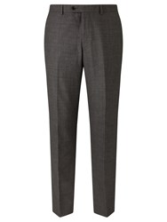 John Lewis Super 100S Wool Milled Textured Weave Tailored Suit Trousers Grey