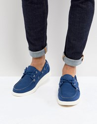 Eastland Popham Two Eye Boat Shoe In Blue