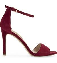 Aldo Fiolla Suede Heeled Sandals Bordo Miscellaneous