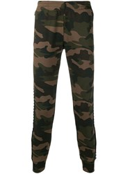 Hydrogen Camouflage Track Trousers Green