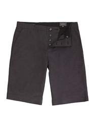 Peter Werth Cleave Pindot Cotton Shorts Charcoal
