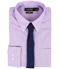 Lauren Ralph Lauren Slim Fit Stretch Non Iron Pinpoint Button Down Dress Shirt Lavender Men's Clothing Purple