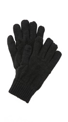 Plush Metallic Smartphone Gloves Black