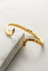 Anthropologie Vine Snake Cuff Gold