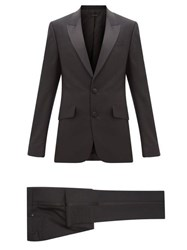 Givenchy Satin Trimmed Wool Blend Tuxedo Black