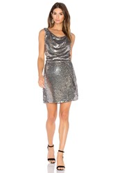 Parker Black Reagan Dress Metallic Silver
