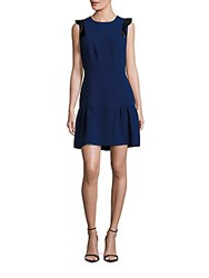 Sandro Jewelneck Sleeveless Dress Ultramarine