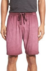 Daniel Buchler Men's Vintage Wash Cotton Lounge Shorts Wine