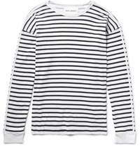 Our Legacy Striped Washed Cotton Jersey T Shirt White