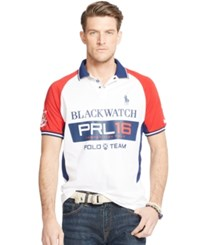 Polo Ralph Lauren Big And Tall Black Watch Pieced Polo Holiday Navy
