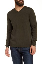 Wallin And Bros Cotton Cashmere V Neck Sweater Green