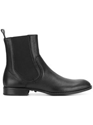 Versace Chelsea Boots Lamb Skin Leather Rubber 41.5 Black