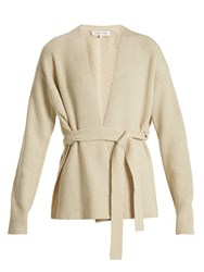 Helmut Lang Wool And Cashmere Blend Cardigan Cream