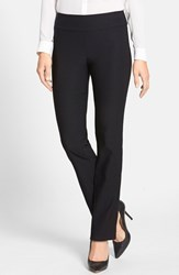 Petite Women's Nic Zoe 'The Wonderstretch' Straight Leg Pants Black Onyx
