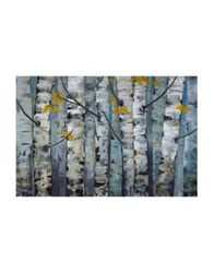 Marmont Hill Touched By Gold I Painting Print On Wrapped Canvas Light Blue