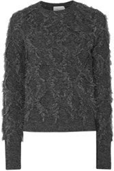 3.1 Phillip Lim Fringed Knitted Sweater Charcoal
