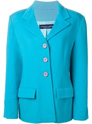 Jean Louis Scherrer Vintage Boxy Fit Jacket Blue