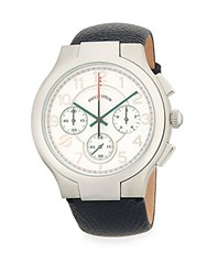 Philip Stein Teslar Pebbled Strap Stainless Steel Watch No Color