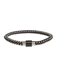 Ted Baker Two Colour Weave Bracelet Charcoal