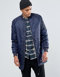 Solid Longline Padded Bomber Navy 1991