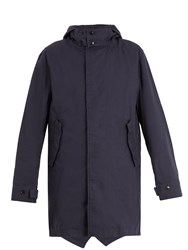 Saturdays Surf Nyc Nathan Hooded Cotton Twill Parka Navy