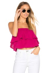Michael Stars Blouson Tube Top Pink
