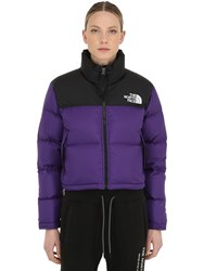 The North Face Nuptse Cropped Down Jacket Hero Purple