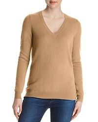 Bloomingdale's C By V Neck Cashmere Sweater 100 Exclusive Honey