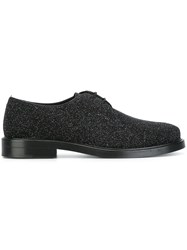 Tod's Glitter Derby Shoes Black