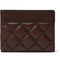 Berluti Quilted Leather Billfold Wallet Brown