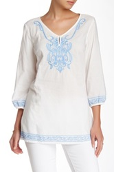 J. Mclaughlin Embroidered Tunic White