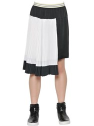 I'm Isola Marras Viscose Satin Skirt With Plisse Panel