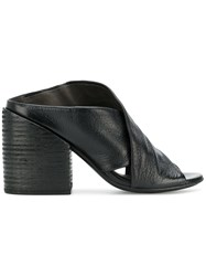 Marsell Cross Strap Mules Black