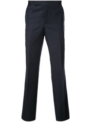 Thom Browne Tailored Trousers Cupro Wool Blue
