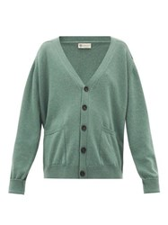 Connolly V Neck Cashmere Cardigan Green