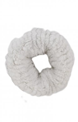 White Fur Infinity Scarf Edition01
