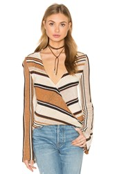 Goddis Cecilia V Neck Sweater Beige