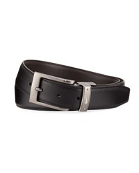 Nike Swoosh Reversible Faux Belt Black Brown
