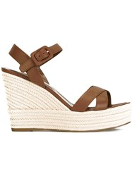 Sergio Rossi Wedged Sandals Brown