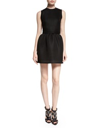 Mcq By Alexander Mcqueen Mesh Volume Party Dress Black