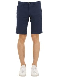 Moncler Cotton Twill Shorts Navy