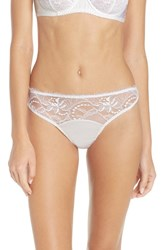 Fleur Of England Women's Lace Thong White