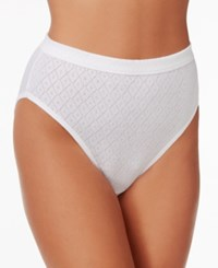 Jockey Elance 3 Pk. High Cut Cotton Brief 1541 White