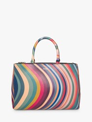 Paul Smith Leather Zip Tote Bag Swirl