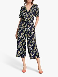 Hush Carly Cropped Jumpsuit Tiger Print
