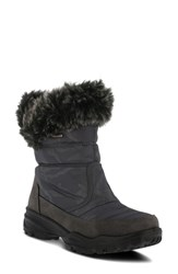 Spring Step Korine Waterproof Faux Fur Bootie Grey Fabric